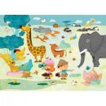 Puzzle-Michele-Wilson-W201-24 Puzzle aus handgefertigten Holzteilen - Huette: Safarifoto
