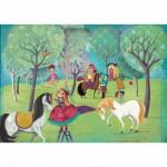 Puzzle-Michele-Wilson-W209-100 Puzzle aus handgefertigten Holzteilen - Lebot: Ruhetag