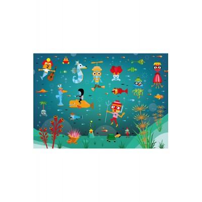 Puzzle-Michele-Wilson-W301-24 Puzzle aus handgefertigten Holzteilen - Guillaumit: Unterwasserwelt