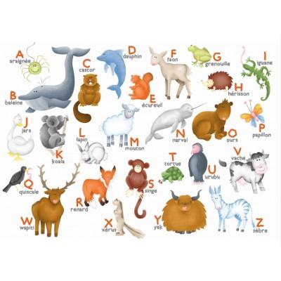 Puzzle-Michele-Wilson-W306-12 Puzzle aus handgefertigten Holzteilen - Hannah Weeks: Alphabet der Tiere