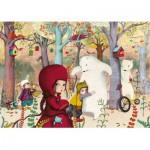 Puzzle-Michele-Wilson-W308-24 Puzzle aus handgefertigten Holzteilen - Lebot: Treffen im Wald