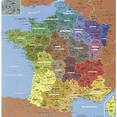 Puzzle-Michele-Wilson-W50-24 Puzzle aus Holz 24 handgefertigte Teile MAXI - Michèle Wilson - Frankreichkarte