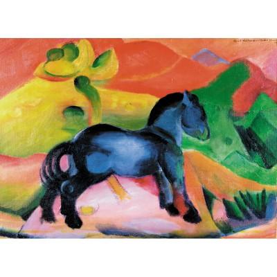 Puzzle-Michele-Wilson-W60-12 Puzzle aus handgefertigten Holzteilen - Franz Marc: Kleines blaues Pferd