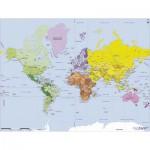 Puzzle-Michele-Wilson-W75-50 Puzzle aus handgefertigten Holzteilen - Weltkarte