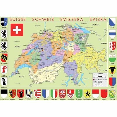 Puzzle-Michele-Wilson-W77-50 Puzzle aus handgefertigten Holzteilen - Karte der Schweiz