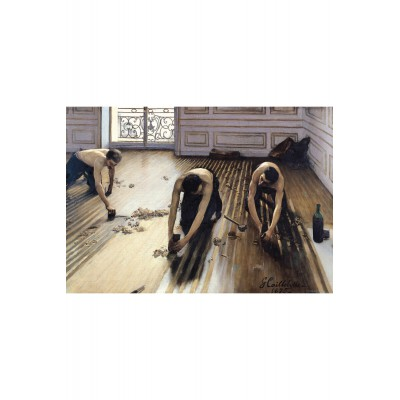 Puzzle-Michele-Wilson-W817-100 Puzzle aus handgefertigten Holzteilen - Gustave Caillebotte: Die Parkettabzieher