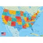 Puzzle-Michele-Wilson-W84-50 Holzpuzzle - Karte der Vereinigten Staaten