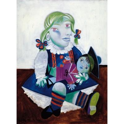 Puzzle-Michele-Wilson-W91-12 Puzzle aus handgefertigten Holzteilen - Picasso: Maya mit Puppe