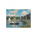Puzzle-Michèle-Wilson-A246-500 Puzzle aus handgefertigten Holzteilen - Claude Monet: Brücke von Argenteuil
