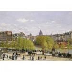 Puzzle-Michèle-Wilson-A287-80 Puzzle aus handgefertigten Holzteilen - Monet: Quai du Louvre, Paris