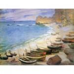 Puzzle-Michèle-Wilson-A970-250 Puzzle aus handgefertigten Holzteilen - Monet: Etretat