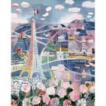 Puzzle-Michèle-Wilson-W25-24 Puzzle aus handgefertigten Holzteilen - Raoul Dufy: Paris im Frühling
