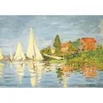 Puzzle-Michèle-Wilson-W452-50 Puzzle aus handgefertigten Holzteilen - Monet: Regatta in Argenteuil