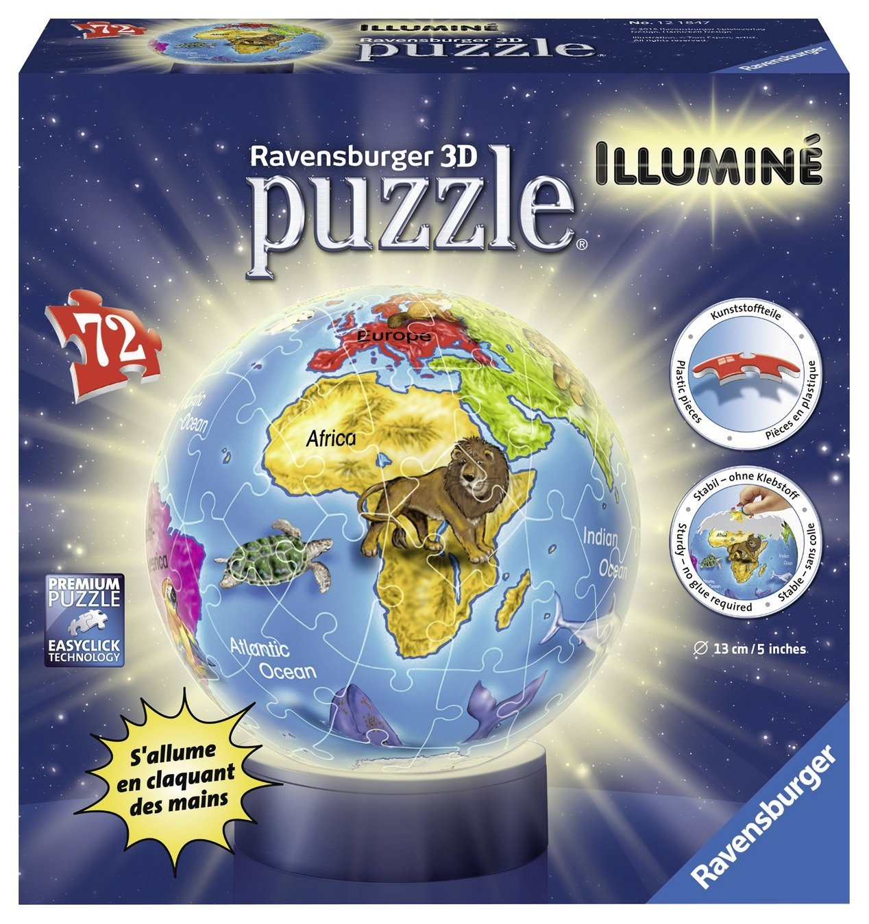 3d puzzle nachtlicht kindererde 72 teile ravensburger puzzle online kaufen. Black Bedroom Furniture Sets. Home Design Ideas
