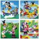 4 Puzzles - 25 und 36 Teile: Mickey und seine Freunde amüsieren sich