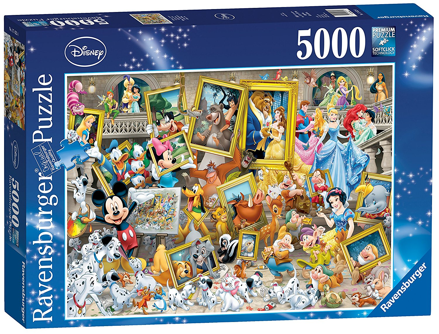 mickey als k nstler 5000 teile ravensburger puzzle. Black Bedroom Furniture Sets. Home Design Ideas