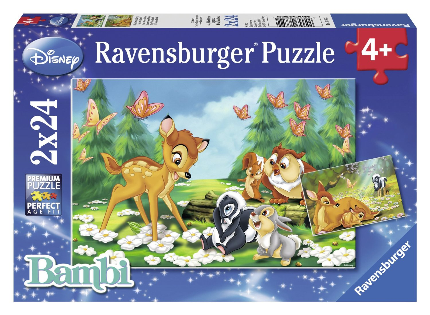 mein freund bambi disney 2x24 teile puzzle set ravensburger puzzle online kaufen. Black Bedroom Furniture Sets. Home Design Ideas