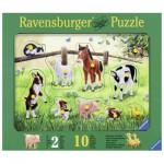 Ravensburger-03671 Holzpuzzle - Heimische Tierkinder