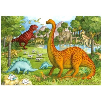 Puzzle Ravensburger-05266 Dinofreunde