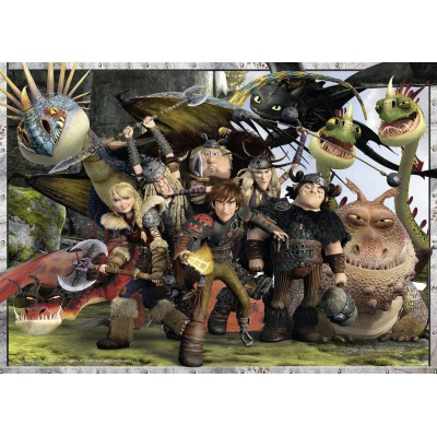 Ravensburger-05436 Riesen-Bodenpuzzle - Dragons