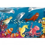 Puzzle  Ravensburger-05456 Leben im Meer