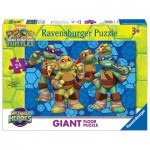 Ravensburger-05470 Riesen-Bodenpuzzle - Ninja Turtles