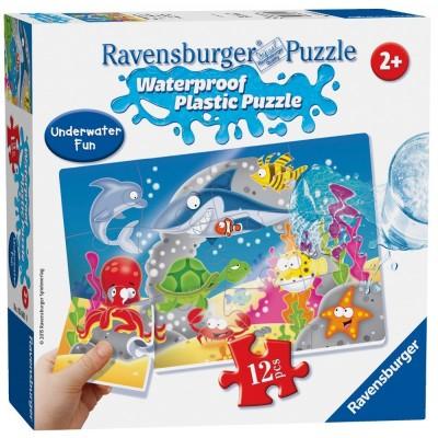 Ravensburger-05601 Wasserdichte Plastik Puzzle - Unterwasser-Spaß