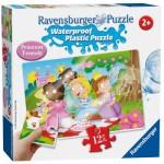 Ravensburger-05603 Wasserdichte Plastik Puzzle - Süße Prinzessinnen