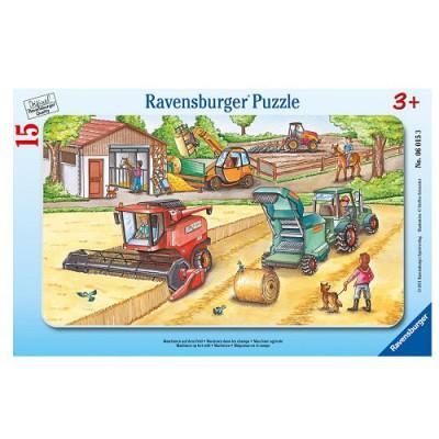 Puzzle Ravensburger-06015 Maschinen auf dem Feld