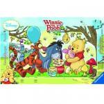 Ravensburger-06018 15 Teile Rahmenpuzzle - Winnie Pooh: Honigparty