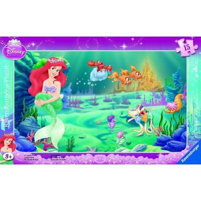 Ravensburger-06031 Puzzle 15 Teile Rahmenpuzzle - Ariels Welt