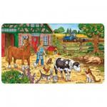 Ravensburger-06035 Puzzle 15 Teile Rahmenpuzzle - Das Leben auf dem Bauernhof