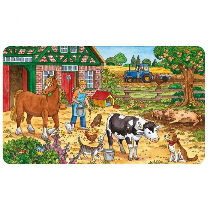Puzzle 15 Teile Rahmenpuzzle - Das Leben auf dem Bauernhof