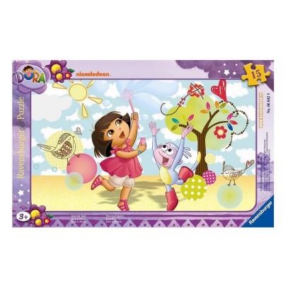 Ravensburger-06042 Rahmenpuzzle - Spaß mit Dora