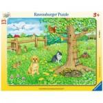 Ravensburger-06067 Rahmenpuzzle - Tiere auf der Frühlingswiese