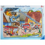 Ravensburger-06092 Rahmenpuzzle - Wasser marsch!