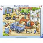 Ravensburger-06120 Rahmenpuzzle - Große Baustellenfahrzeuge