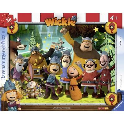 Ravensburger-06122 Rahmenpuzzle - Wickie der kleine Wikinger
