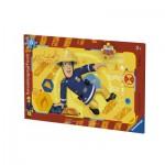 Ravensburger-06125 Rahmenpuzzle - Feuerwehrmann Sam in Aktion