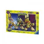 Ravensburger-06126 Rahmenpuzzle - Ninja Turtles