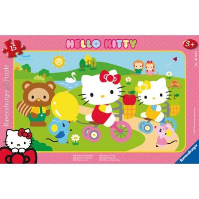 Ravensburger-06128 Rahmenpuzzle - Hello Kitty