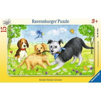 Ravensburger-06130 Rahmenpuzzle - Spielende Welpen