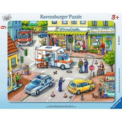 Ravensburger-06131 Rahmenpuzzle - Einsatz in der Stadt