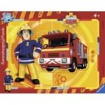Ravensburger-06132 Rahmenpuzzle - Sam the Fireman