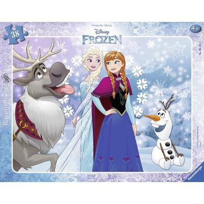 Ravensburger-06141 Rahmenpuzzle: Frozen - Die Eiskönigin