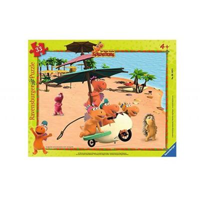 Ravensburger-06142 Rahmenpuzzle - Drache Kokosnuss und seine Freunde