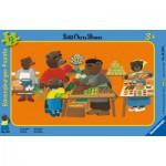Ravensburger-06308 Rahmenpuzzle - Der Kleine Braunbär auf dem Markt