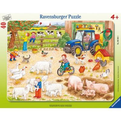 Puzzle Ravensburger-06332 Auf dem großen Bauernhof