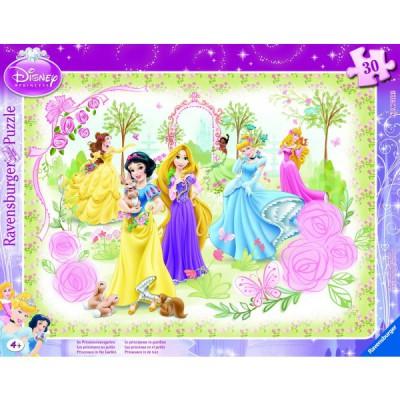 Ravensburger-06344 30 Teile Rahmenpuzzle - Disney Princess: Die Prinzessinnen im Garten