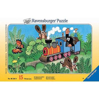 Puzzle Ravensburger-06349 Der kleine Maulwurf als Lokführer